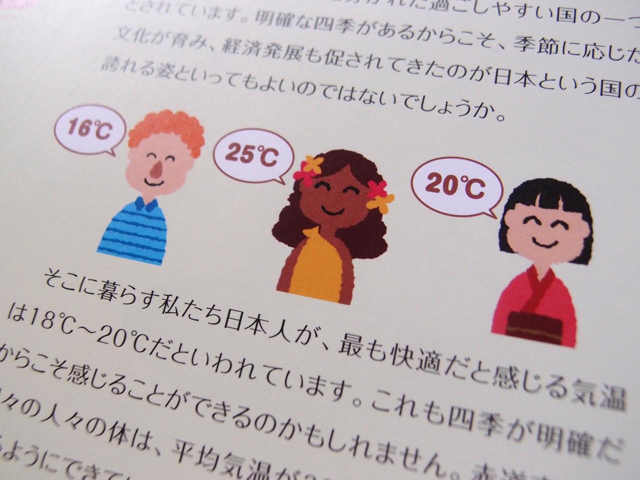 東芝キヤリアグループ様:環境報告書2008イラスト:快適温度
