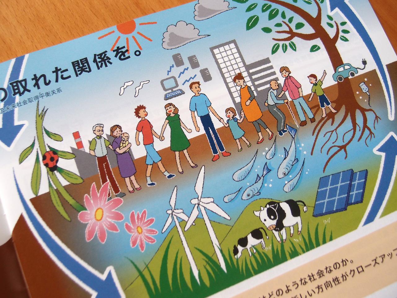東芝キヤリアグループ様 「社会・環境報告書2012」特集イラスト