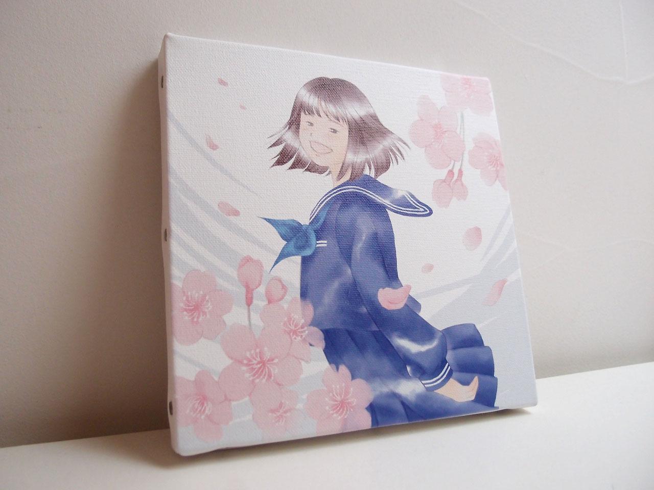 卒業入学お祝いイラスト:桜キャンバスプリント