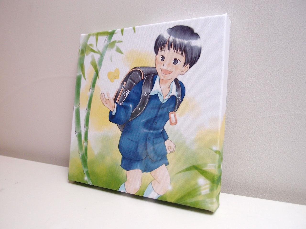 卒業入学お祝いイラスト:竹キャンバスプリント