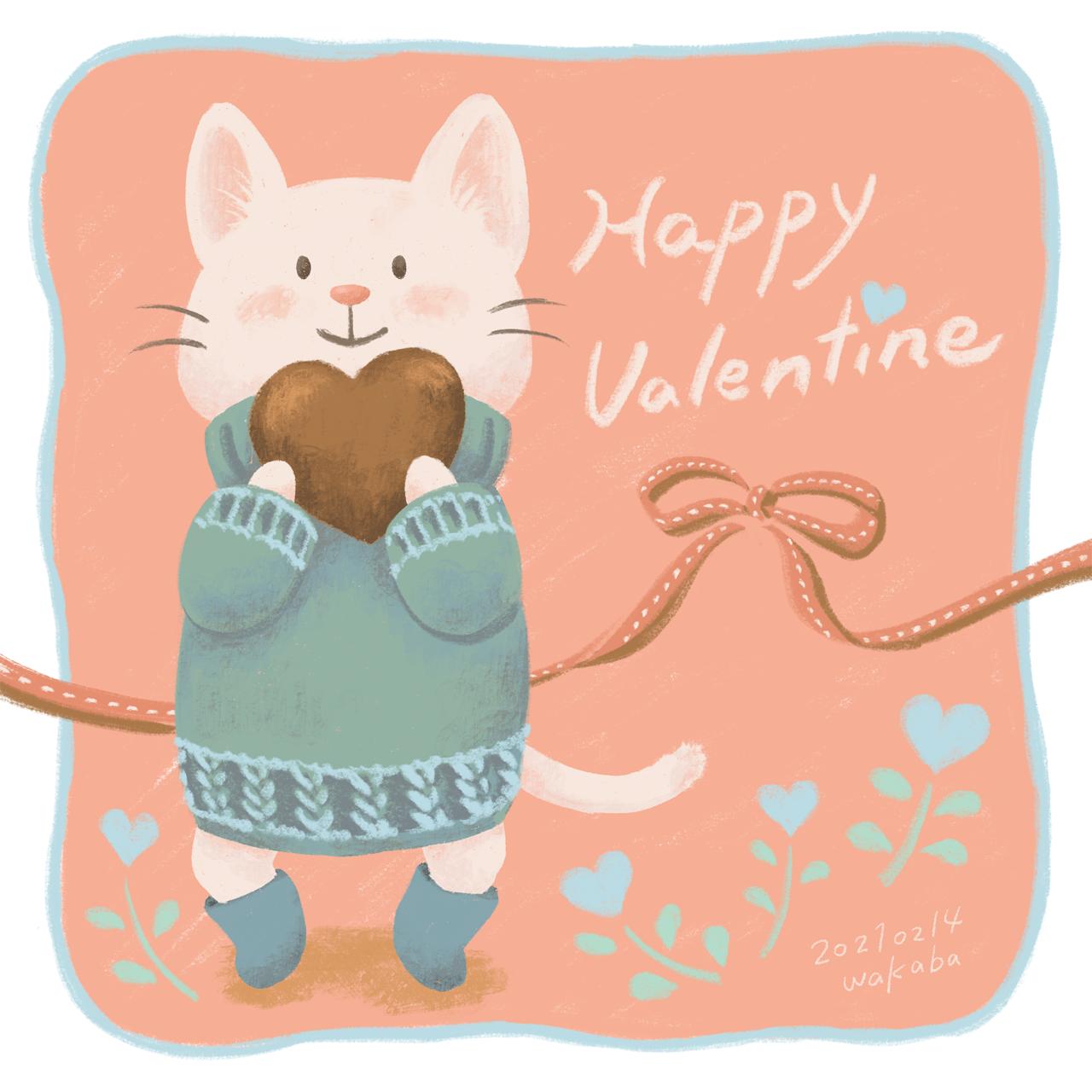 白い子猫のバレンタイン